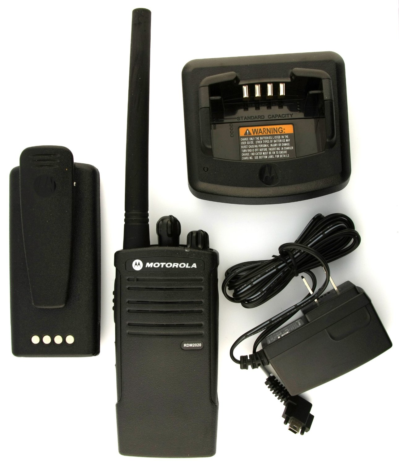 Motorola Rdm2020 Portable Two Channel Way Radio Wilcox Sound Belt Clip Ht And Communications