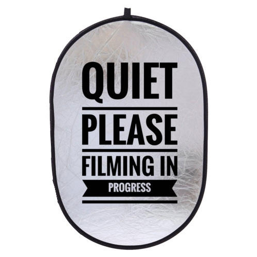 quiet please filming in progress collapsible sign reflector
